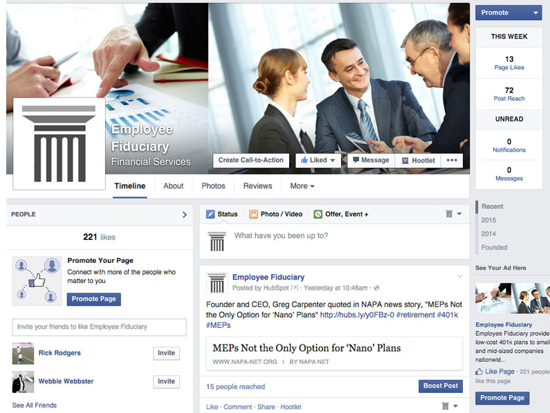 Employee Fiduciary Facebook Avalanche Media Works